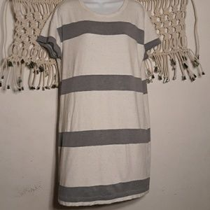 Lou & Grey blue heathered stripe tee shirt dress